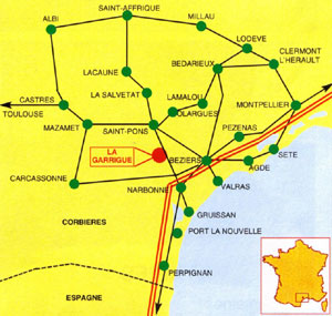 Plan de situation La Garrigue plus grand - clic ici !